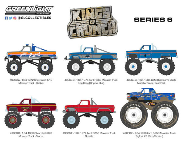 Greenlight Kings Of Crunch Monster Truck Series 6 !! 49060-6 IN STOCK NOW