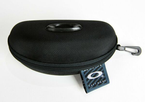 Portable Vault Half Jacket Sunglasses Case Black for Oakley Sunglasses