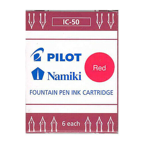 Namiki Pilot Fountain Pen Ink Cartridges 6 pk Red