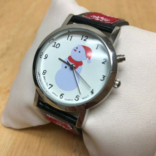 Vintage Anya LTD Christmas Jingle Bell Musical Quartz Watch Hours~New Battery