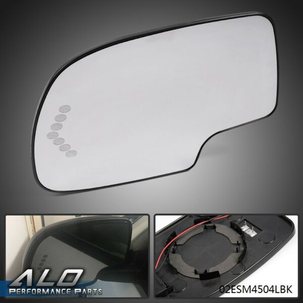 Left Heated Mirror Glass Turn Signal wo Auto Dimming LH for Chevy GMC Cadillac