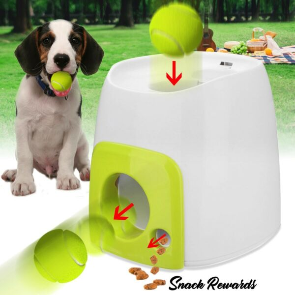 Fetch Machine for Small Dogs  Puppy with Interactive Automatic Treat Dispenser