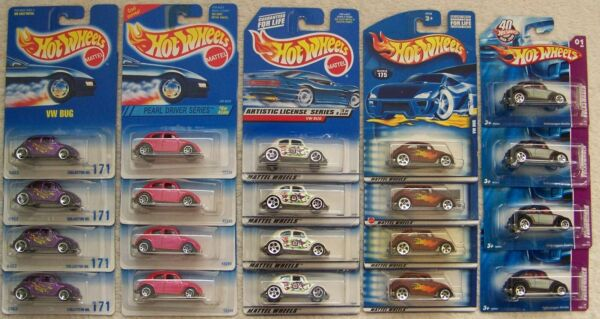 '95 '97 '98 '01 '08 Hot Wheels VW Volkswagen Bug Beetle Lot of 4 Choice Lot