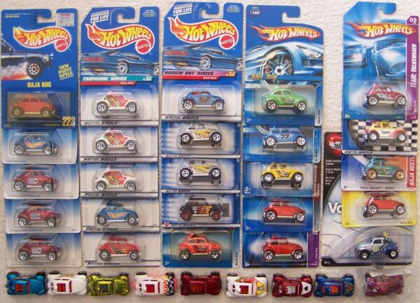 1990 Through 2011 Hot Wheels Volkswagen VW Baja Bug Beetle Choice Lot