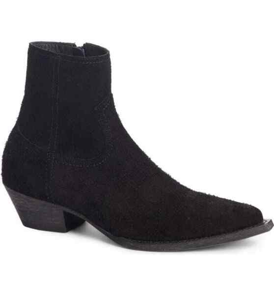 Saint Laurent Lukas 40 Zip Suede Ankle Boot US 6 36 EU $1095 5328600NW00 Black