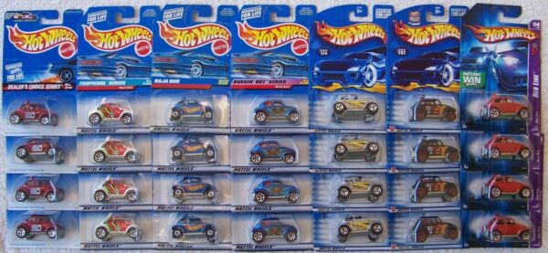 '97 '98 '99 '01 '02 '06 Hot Wheels VW Volkswagen Baja Bug Beetle Lot of 4 Choice
