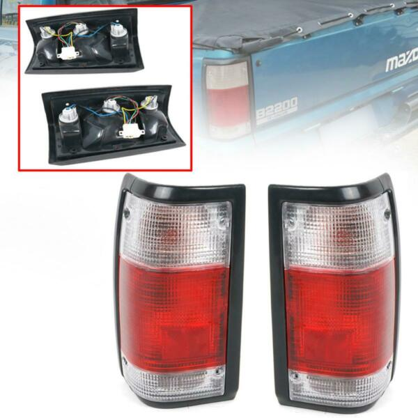 Tail Lamp Rear Light White Red Pair Fit Mazda Magnum B2000 B2200 B2600 1986-1993