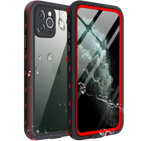 Apple iPhone 11 Pro Max Waterproof Case Cover w Built-in Screen Prote