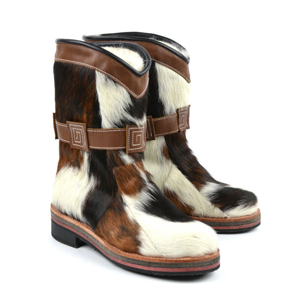 EXCLUSIVE Winter Boots Unty 100% Horse Fur Leather Hunting Fishing Tourism