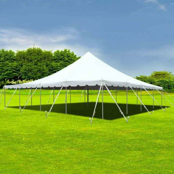 40x40' Party Event Canopy Premium Pole Tent Heavy Duty Waterproof Sectional Top