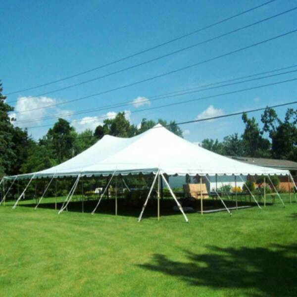 40x60' Party Event Canopy Premium Pole Tent Heavy Duty Waterproof Sectional Top