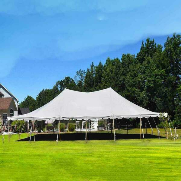 30x60' Party Event Canopy Premium Pole Tent Heavy Duty Waterproof Sectional Top