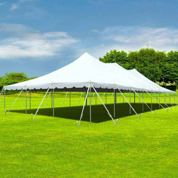 30x80' Party Event Canopy Premium Pole Tent Heavy Duty Waterproof Sectional Top