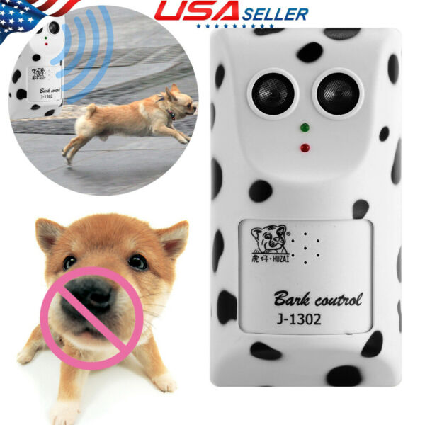 Ultrasonic Pet Dog Bark Control Stop Barking Anti-Bark Device Trainer Silencer