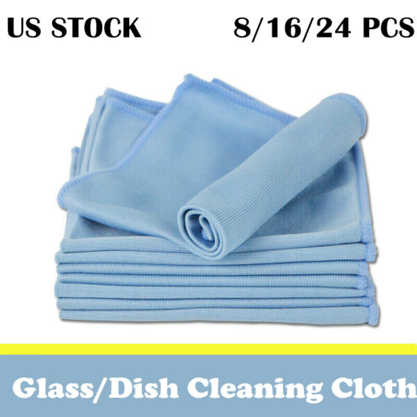 Microfiber Car Glass Cleaning Cloth Dish Window Detail Washing Towel Drying Rag $12.09