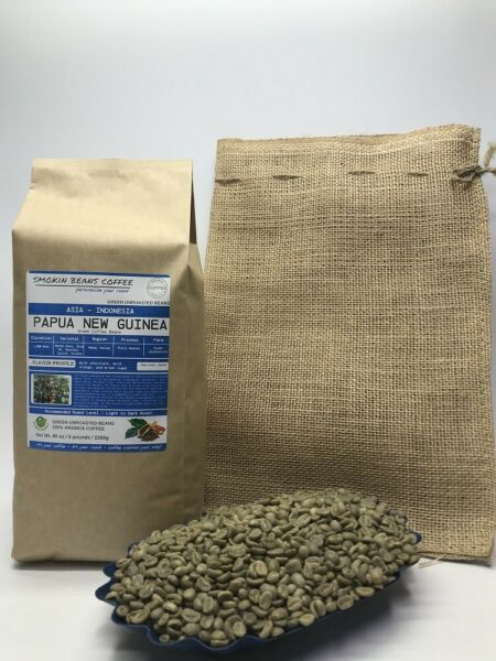 1lb30lb - Papua New Guinea AA – Asian - Premium Unroasted Green Coffee Beans