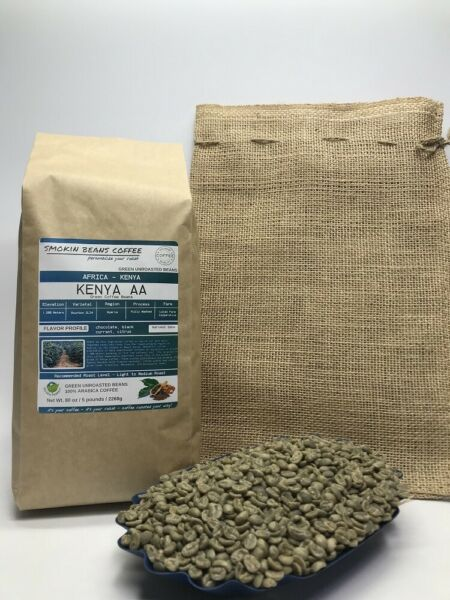 1lb30lb - Kenya AA – Specialty Grade - Premium Unroasted Green Coffee Beans