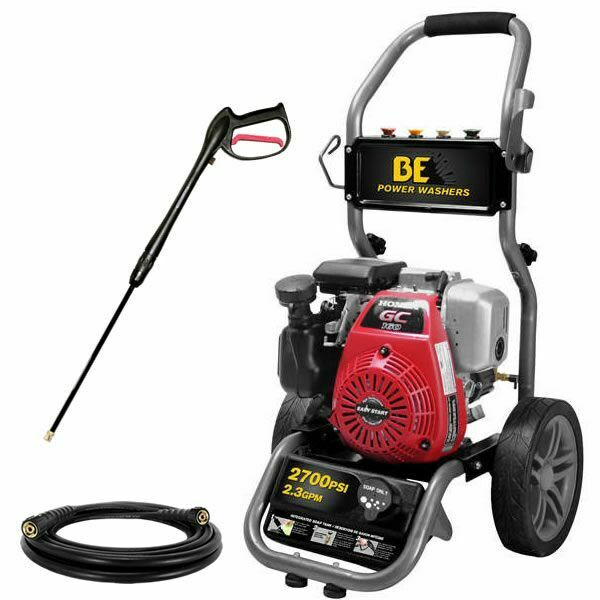 BE275HAS 2700 PSI Gas Cold Water Pressure Washer w Honda GC160 Engine $379.00
