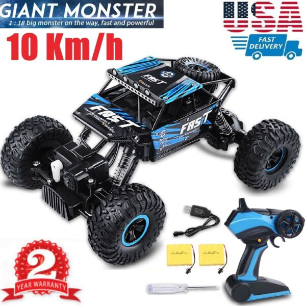 4WD Remote Control Car Terrain Off Road Vehicle Monster Truck RC Cars 2.4G Blue