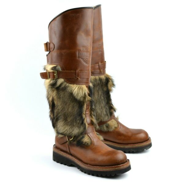 Exclusive Mongolian Men's Winter Boots HARLEY 100% Natural Leather + Fur
