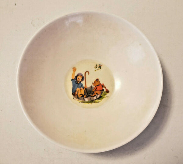 Vintage 1964 Winnie the Pooh and Christopher Robin Bowl Allied Chemical Melamine