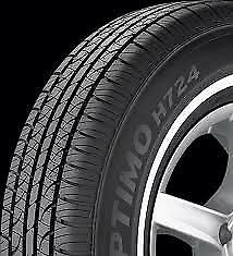4 NEW 23575-15 HANKOOK OPTIMO H724 WHITE WALL 75R R15 TIRES