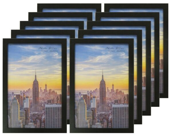 Frame Amo Black Wood Picture Frames or Poster Frames 1 inch Wide Smooth Wrap