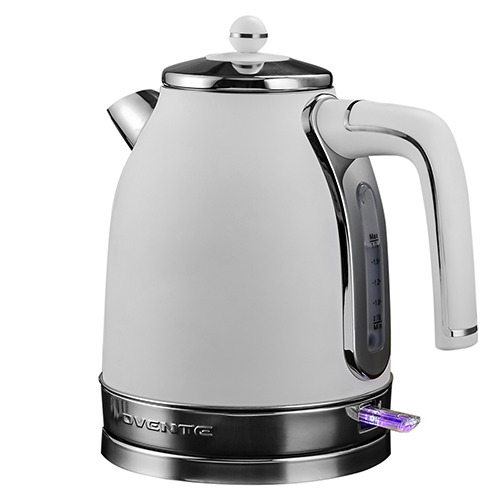 Ovente Electric Water Kettle 1.7L Premium Matte Stainless 1500W White KS777W $30.96