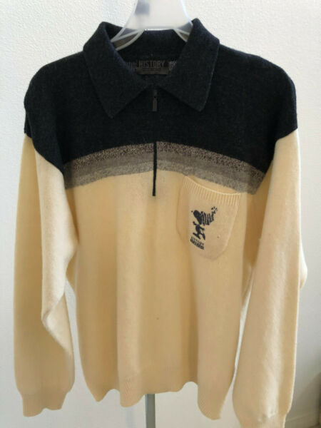 ICEBERG Virgin Wool Cream Sweater Men Size M  Made In Italy $44.95