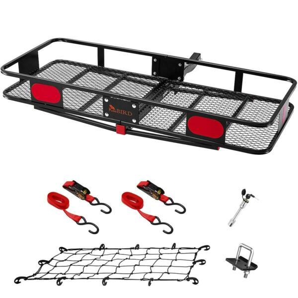 KING BIRD Folding Hitch Basket Cargo Carrier Luggage Holder Fits 2quot; Receiver US $199.99