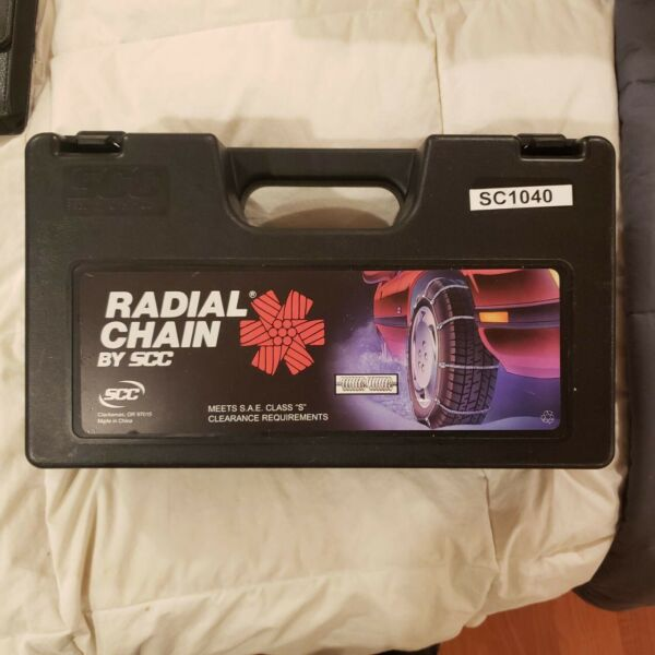 SCC Radial Cable Tire Snow Chains - Stock # SC1040 - Never Used