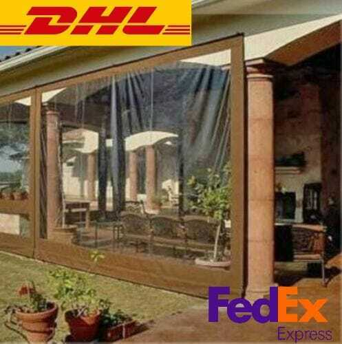 Waterproof Commercial Grade 0.5mm Vinyl Clear Awning Canopy Patio Enclosure DHL✅