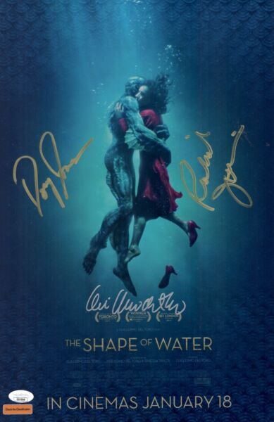 Guillermo Del Toro SHAPE OF WATER Cast X3 Signed 11x17 Photo Autograph JSA COA