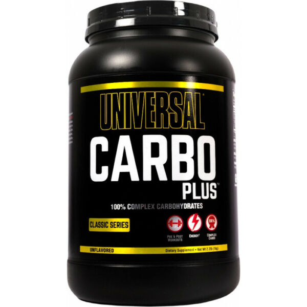 UNIVERSAL NUTRITION CARBO PLUS 2.2 LB unflavored carb powder animal $20.95