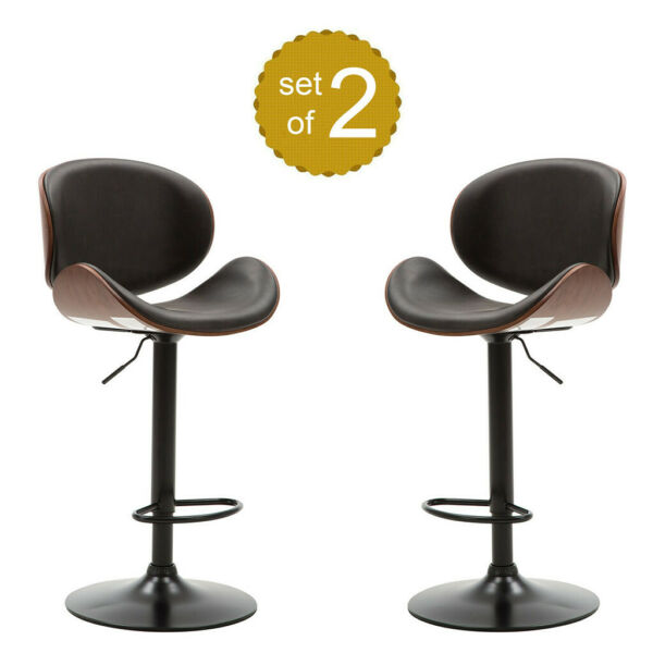 Set of 24 Wooden Swivel Low Back Revolving Bar Stools Counter Dining Pub Chair