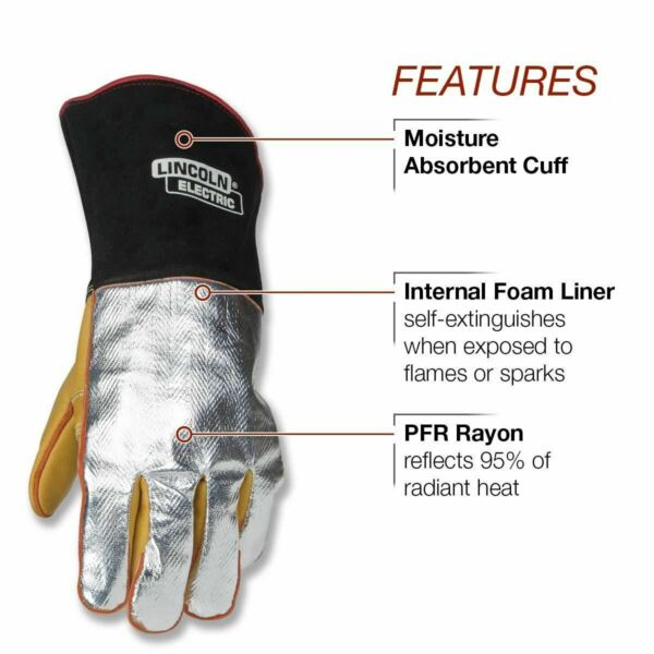 Lincoln Electric Heat Resistant Welding Gloves K2982 $47.00