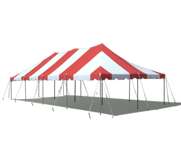 Premium 20x40' Pole Tent Red White Commercial Event Party Canopy Wedding Marquee
