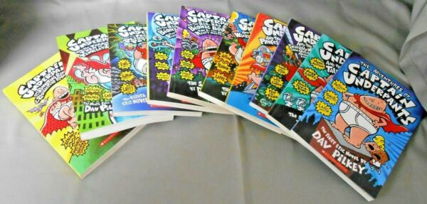 The Adventures of Captain Underpants Books 1-10