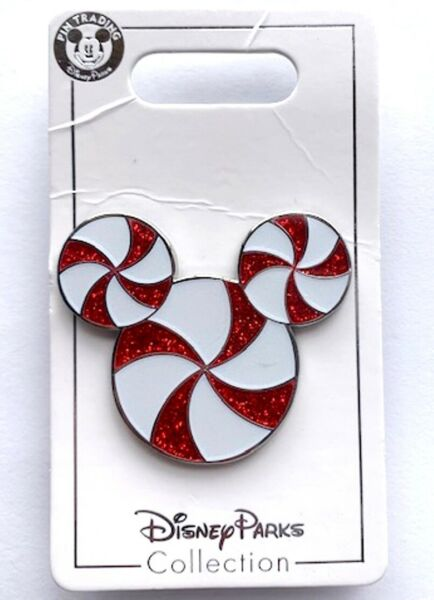 NEW DISNEY MICKEY MOUSE ICON PEPPERMINT 2019 HOLIDAY PIN