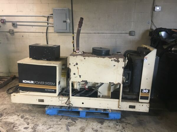 KOHLER 30 KW 3 PHASE GENERATOR WITH ONLY 1263 HORS WORKING GREAT BEST OFFER