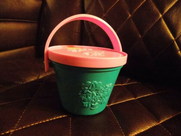 McDonald's Happy Meal Pail Toy 1988 Watering Garden Pail Fry Guys Vintage Toy