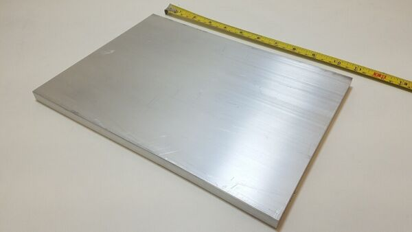 6061 Aluminum Flat Bar 1 2quot; x 8quot; x 11quot; long Solid Stock Plate Machining