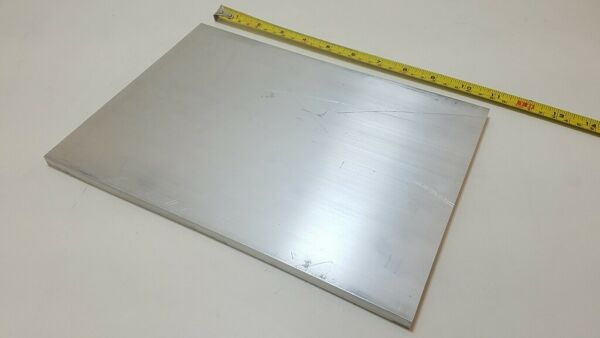 6061 Aluminum Flat Bar 3 8quot; x 8quot; x 11quot; long Solid Stock Plate Machining