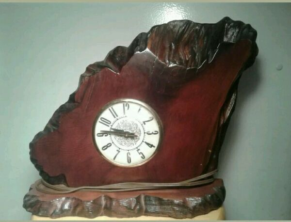 Vintage Lanshire Red Wood Electric Clock $35.00