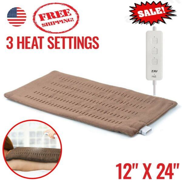 Electric Heating Pad For Shoulder  Back Spine Neck Legs Feet Pain Moist Thermal