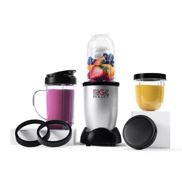 Magic Bullet Blender Small Silver 11 Piece SetFREE SHIPPING $30.09