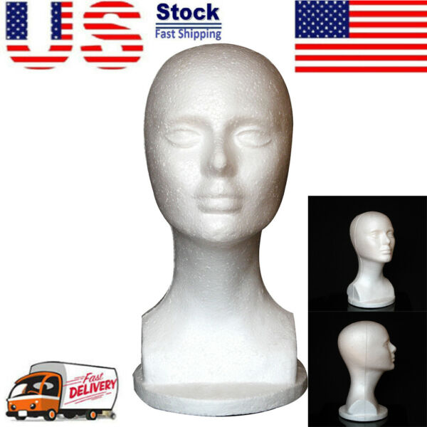 Female Foam Mannequin White Head Model Hat Wigs Jewelry Display Stand Rack USA