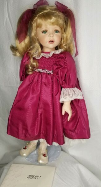 Marie Osmond Helena Doll Quite A Pair Doll Only Green Eyes Porcelain 22 In