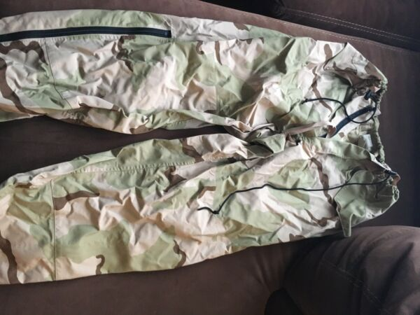 MILITARY DESERT GORE TEX PANT DCU CAMOUFLAGE LARGE REGULAR COLD WEATHER