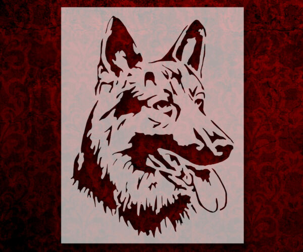 German Shepherd Dog Breed Face Head 8.5quot; x 11quot; Stencil FAST FREE SHIPPING 729 $10.99